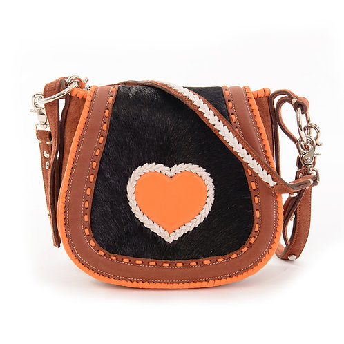 Black Hide Orange Heart