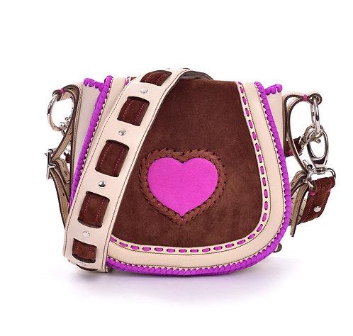 Ivory Neon Purple Heart