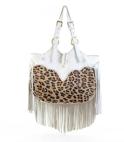 Leopard Print Tassel Bag