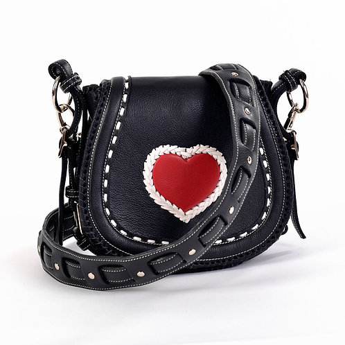 Black Red Heart