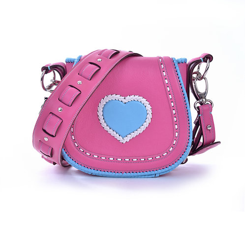 Pink and Blue Heart