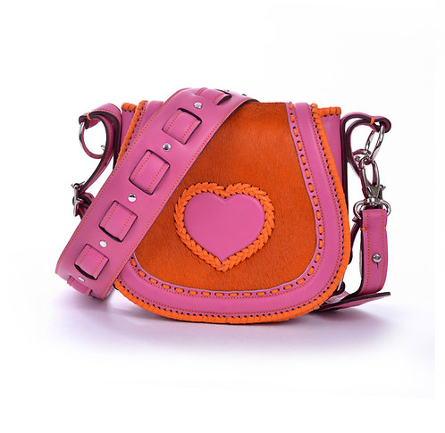 Pink Orange and Pink Heart