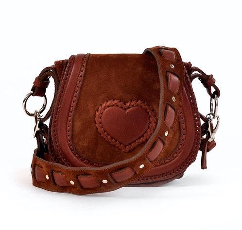 Suede Crossbody Bag