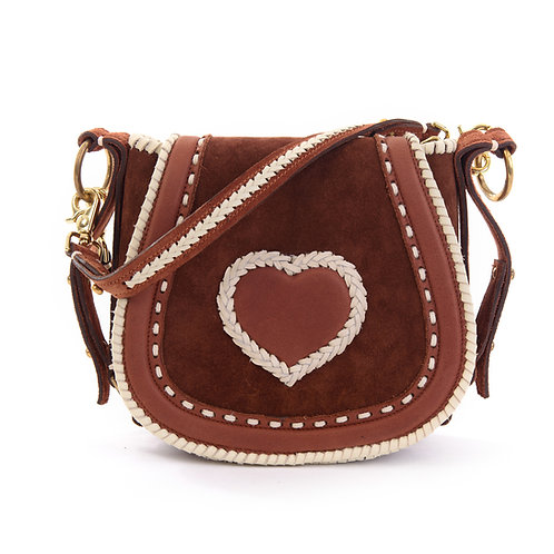 Brown Suede Brown Heart