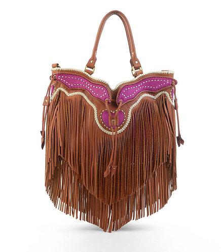 Magenta Tassel Bag