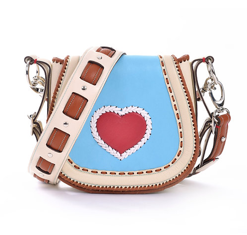 Ivory Blue Red Heart