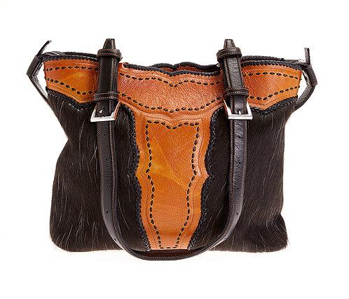 Black Cowhide Tote Bag