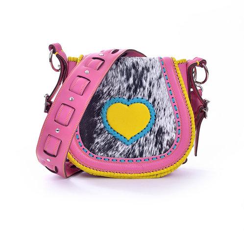 Pink and Yellow Crossbody Bag