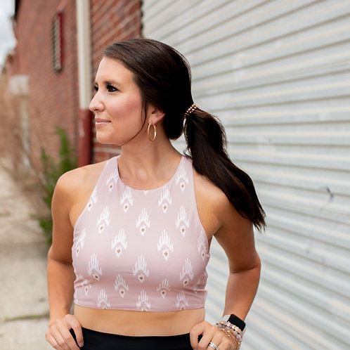"The ""Ashley' Bohemian Rose Sports Bra"