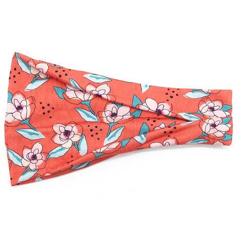 Red Foxy Floral Trifold