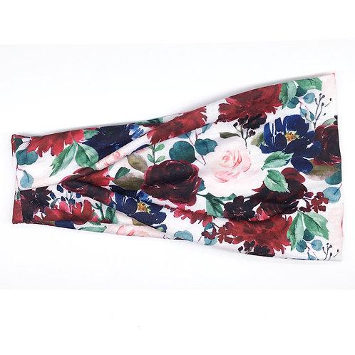 Burgundy Bouquet Tri-fold