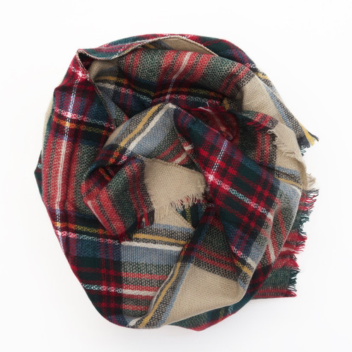these knit flannel scarves are perfect for the chilly seasons they are lightweight enough to wear anytime and warm enough to layer and add style and - Christmas Plaid Scarf