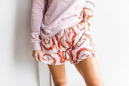 Creamsicle Tie-Dye Lounge Shorts