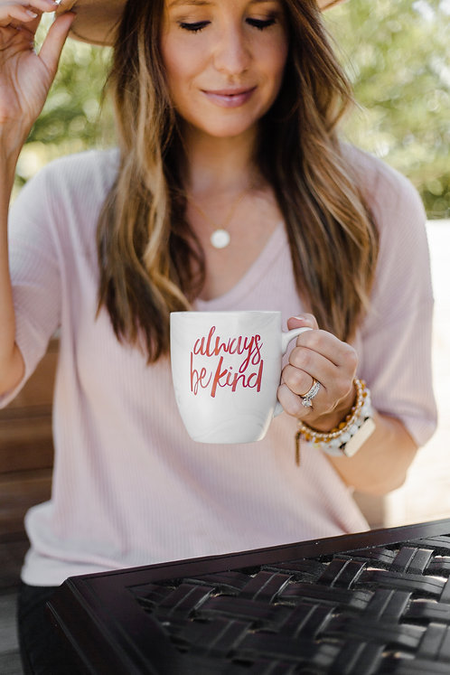 Always Be Kind Marble Mug