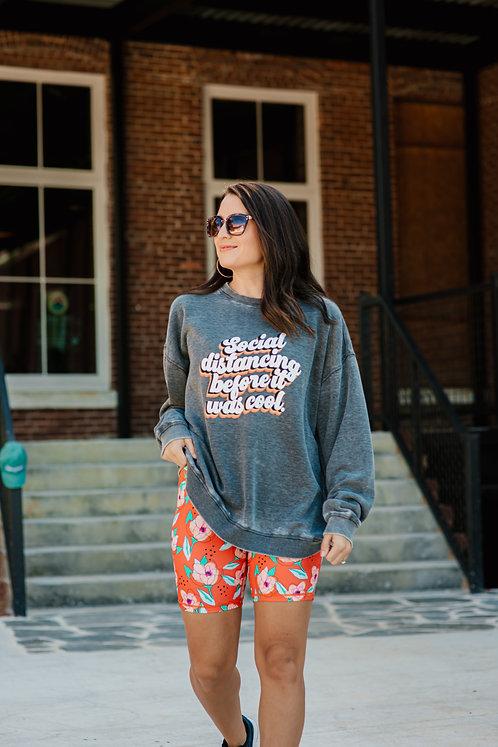 Social Distancing Burnout Sweatshirt
