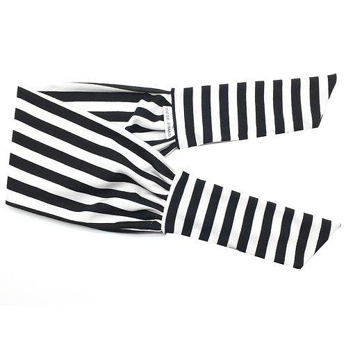 Black and White Stripe Tie-Up
