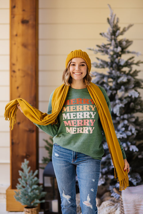 Merry Retro Sweatshirt