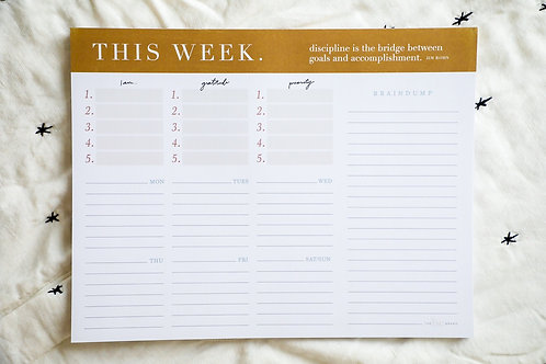Ashley's 'This Week' Planner Pad