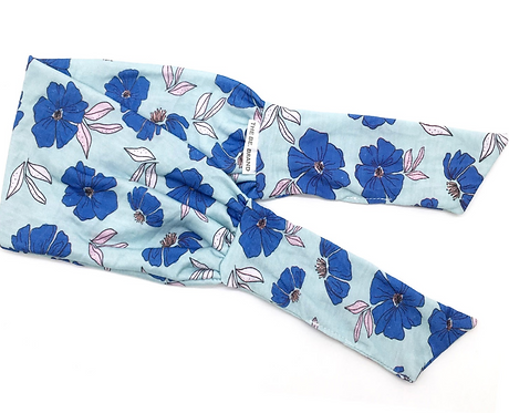 Blue Poppies Tie-Up