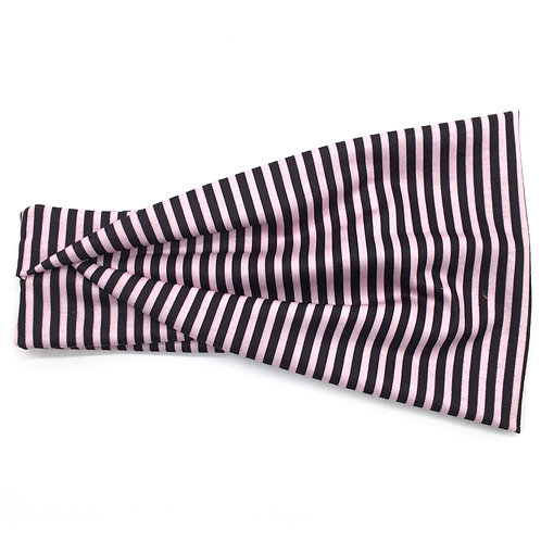 Pink and Black Stripe Tri-Fold