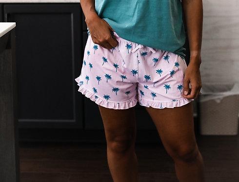 Coastal Palms Lounge Shorts