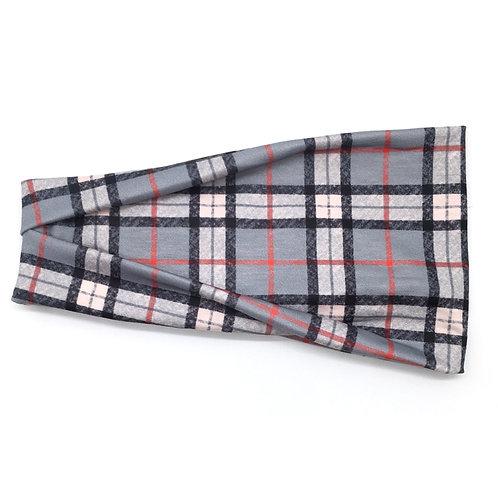 Grey Plaid Tri-fold