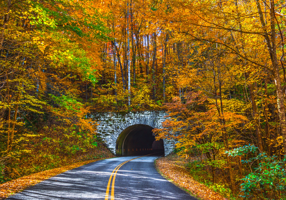 Blue Ridge Parkway Tunnel near Asheville