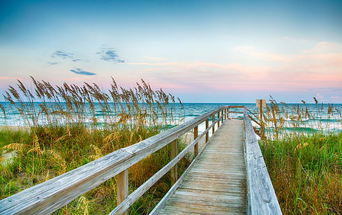 Couples Therapy in Wilmington, North Carolina boardwalk to Kure Beach