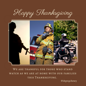 Thankful for Those Standing Watch Today