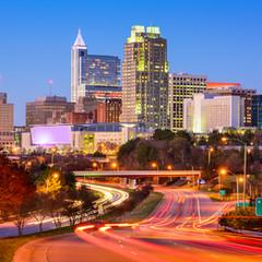 Raleigh, North Carolina, USA downtown