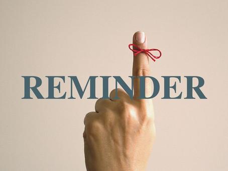 Supervisor Reminder