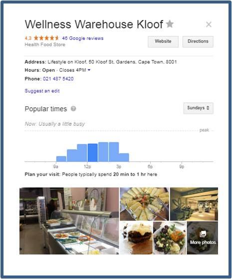 Wellness_Warehouse_Google Local SEO 3 Pack_Organic_Media_Website Designer_SEO_Cape_Town