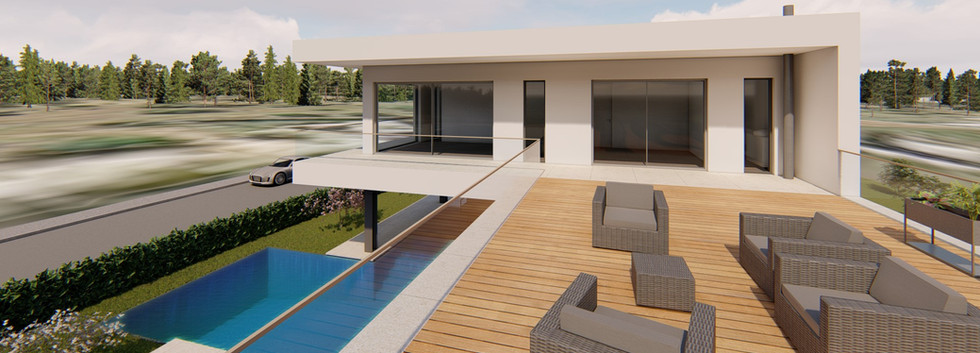 Moradia V3 Alcantarilha - Terraço/Lounge 1º andar