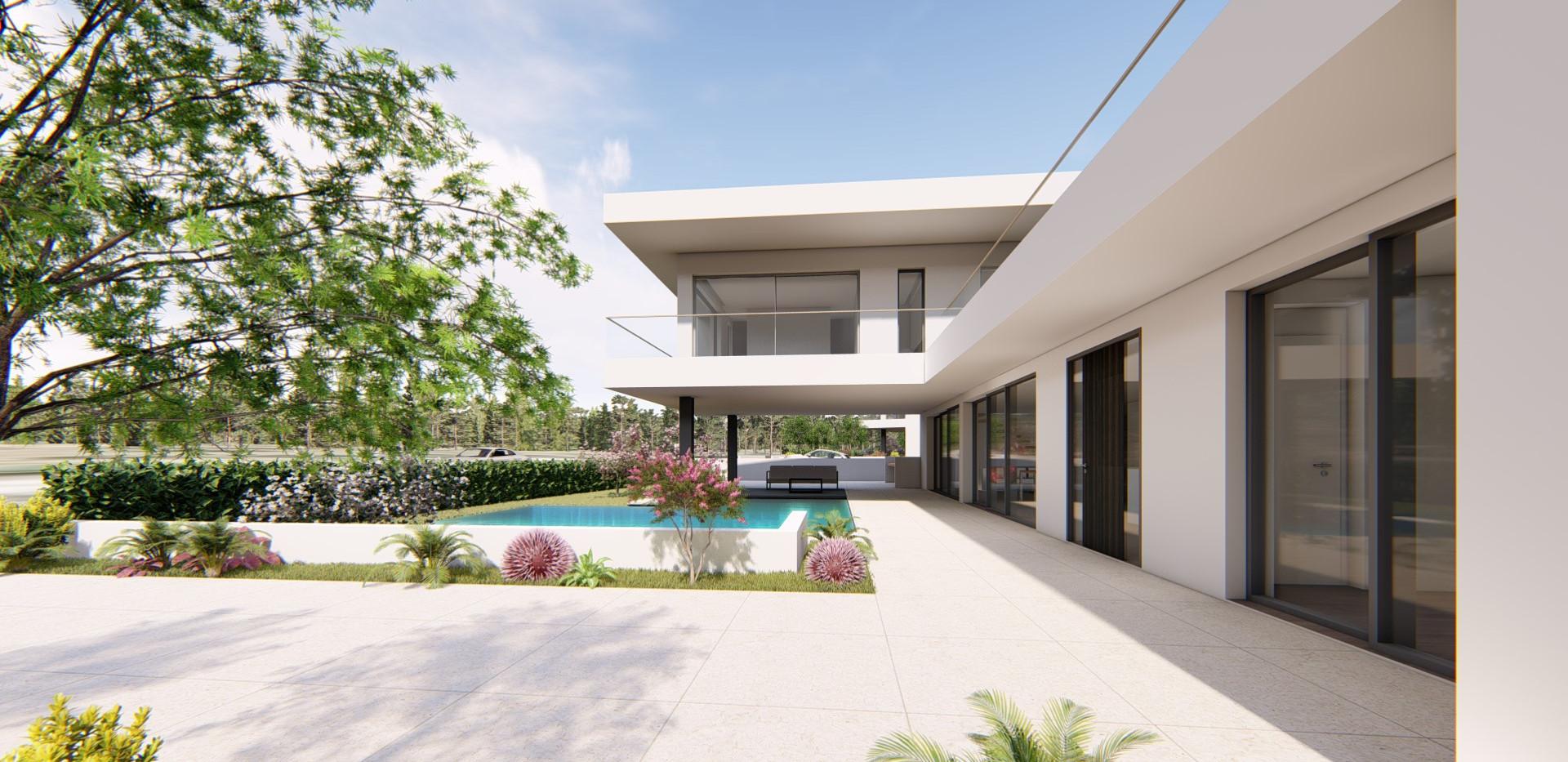 Moradia V3 Alcantarilha - Jardim e Espaço Exterior