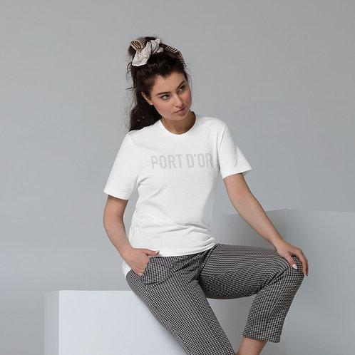 Unisex Organic Cotton Logo T / white