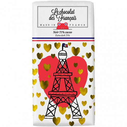 Tablette Bio Noir 71% Le Chocolat des Français