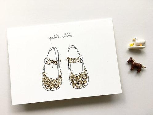 """Carte double avec enveloppe """"Petite chérie"""""""