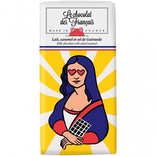 Le Chocolat des Français Tablette Bio lait, caramel et sel de guérande