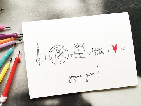 """Carte double avec enveloppe """"joyeux jour !"""""""