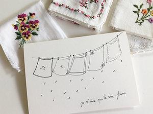 Carte pour sécher tes larmes et son mouchoir en tissu