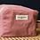 """Thumbnail: Trousse maquillage en tissu rose recyclé """"Tournelles"""" - Rive Droite"""