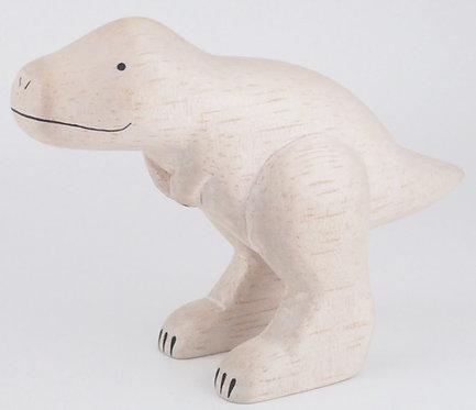 Dinosaure TYRANNOSAURE en bois taillé et peint à la main TLAB