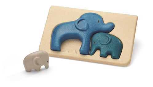 Mon 1er Puzzle Eléphants - Plan Toys