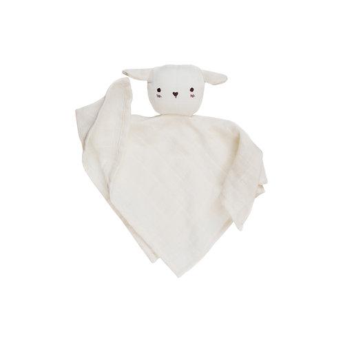 Main Sauvage Doudou lange agneau