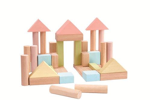 Jeu de construction pastel Plan Toys