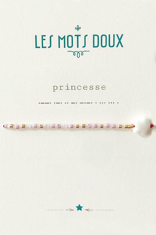 """Bracelet enfant code morse """"Princesse"""" Les Mots Doux"""