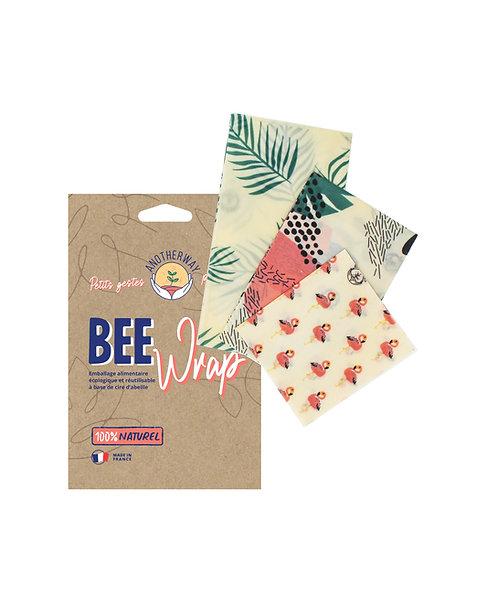 Emballage réutilisable BEE Wrap - design Tropical