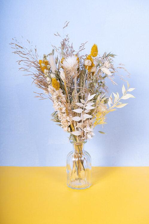 Fiole de fleurs séchées -Yellow Sun