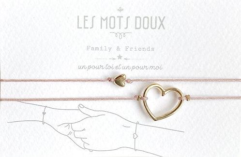 """Duo de Bracelets """"Mon coeur"""" Les Mots Doux"""