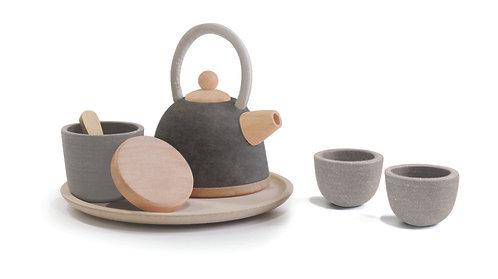 Service à thé design noir Plan Toys